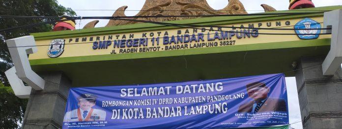 Kunjungan DPRD Pandeglang ke SMPN 11 B.Lampung